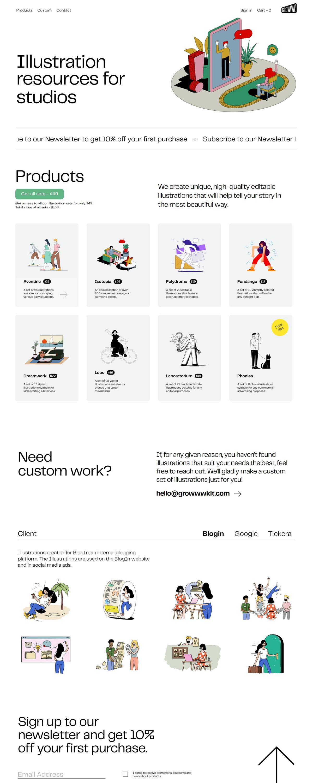 eCommerce website: Growww Kit