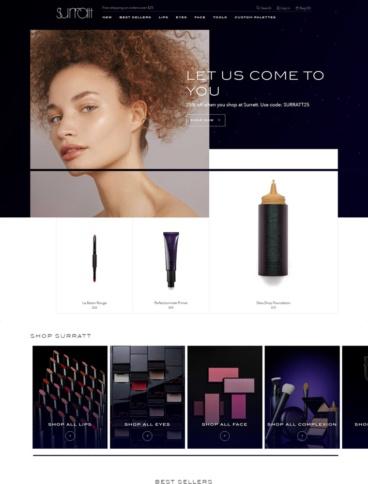 eCommerce website: Surratt