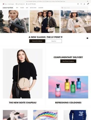 eCommerce website: Louis Vuitton