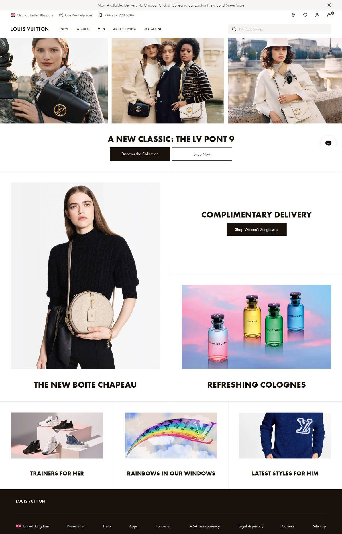 eCommerce website: Louis Vuitton