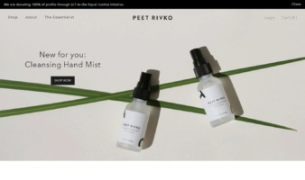 eCommerce website: Peet Rivko