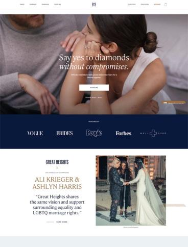 eCommerce website: Great Heights