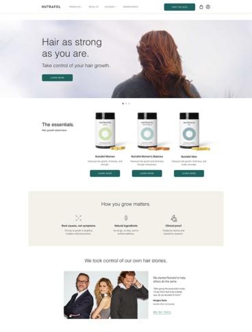 eCommerce website: Nutrafol