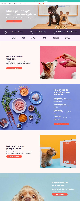 eCommerce website: Ollie