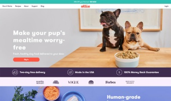 eCommerce website: Ollie