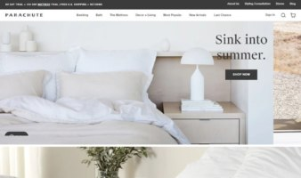 eCommerce website: Parachute