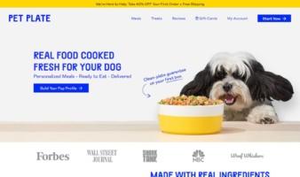 eCommerce website: Pet Plate