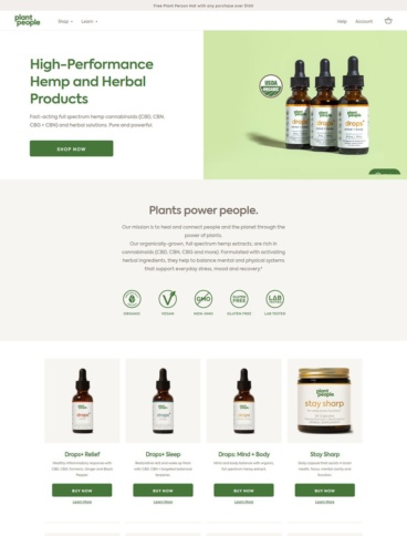 eCommerce website: Plant People