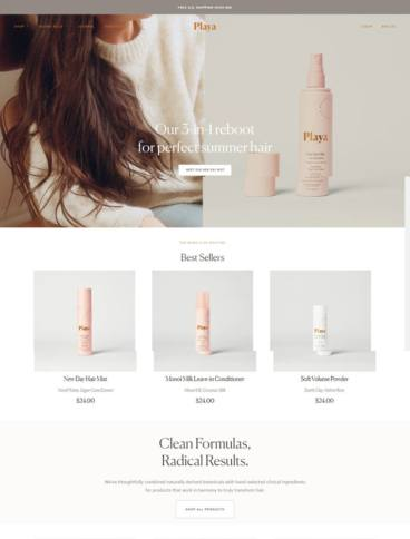 eCommerce website: Playa