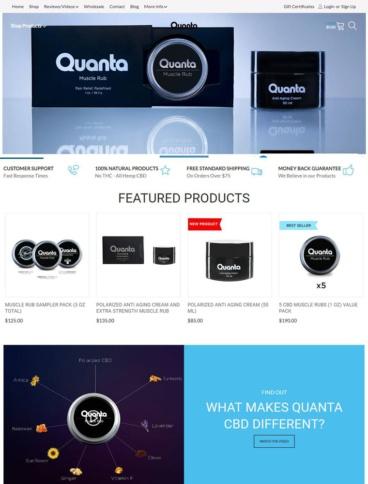 eCommerce website: Quanta