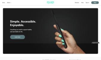 eCommerce website: Quip