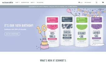 eCommerce website: Schmidt's