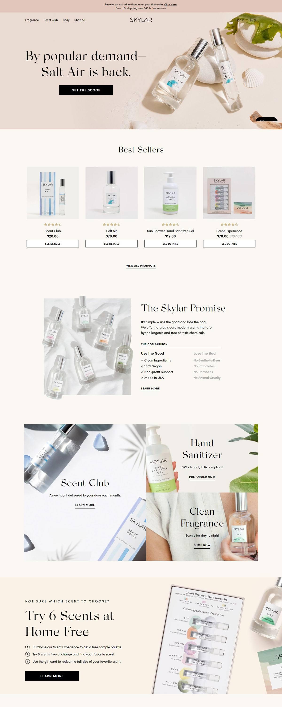 eCommerce website: Skylar