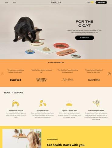 eCommerce website: Smalls