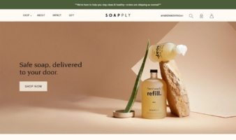 eCommerce website: Soapply