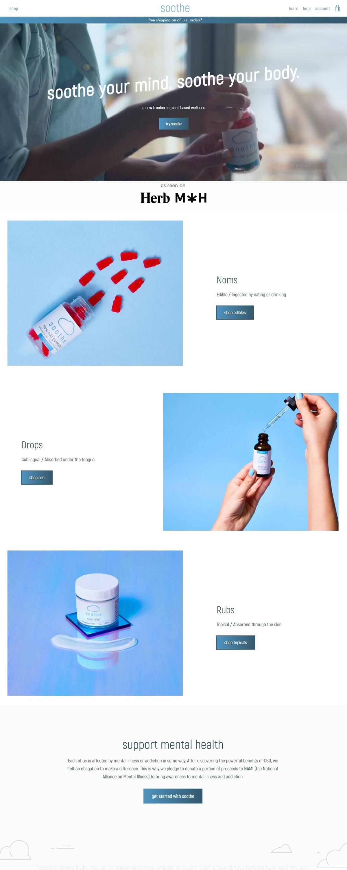 eCommerce website: Soothe