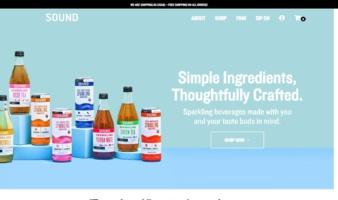 eCommerce website: SOUND