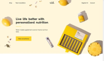 eCommerce website: Vitl