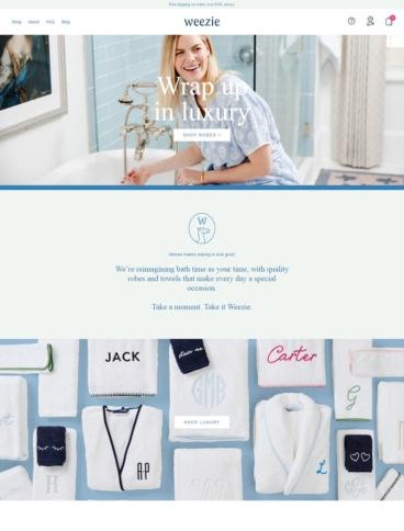 eCommerce website: Weezie