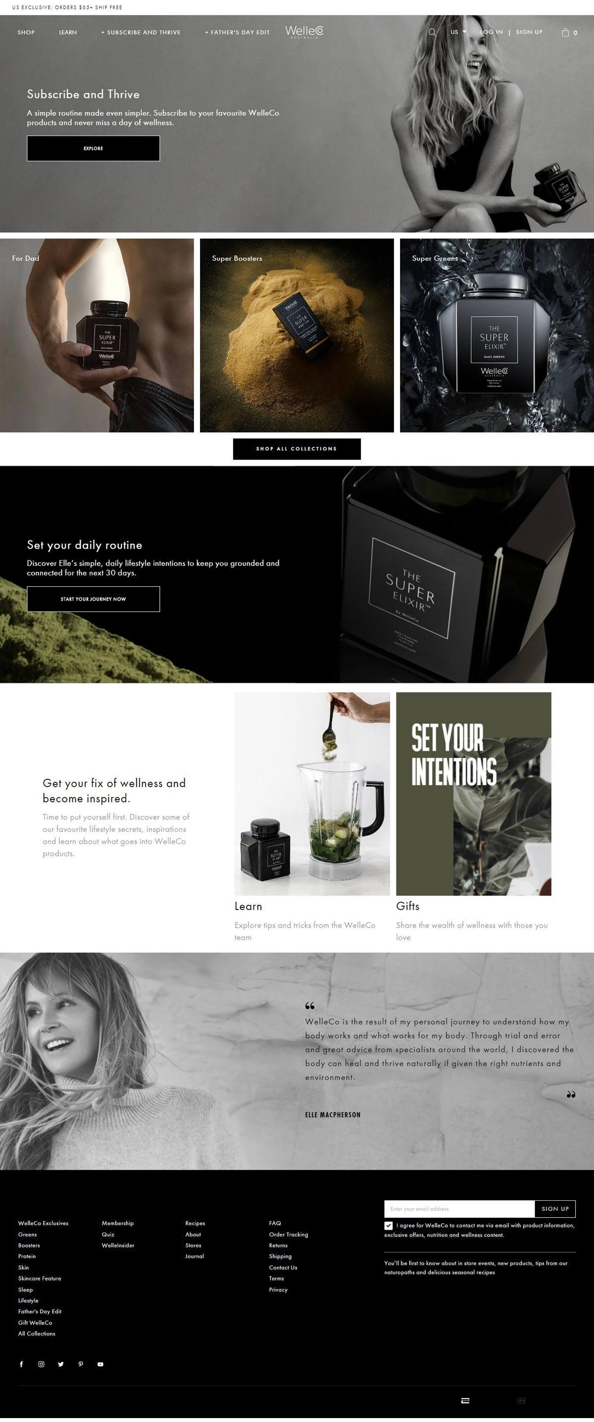 eCommerce website: WelleCo