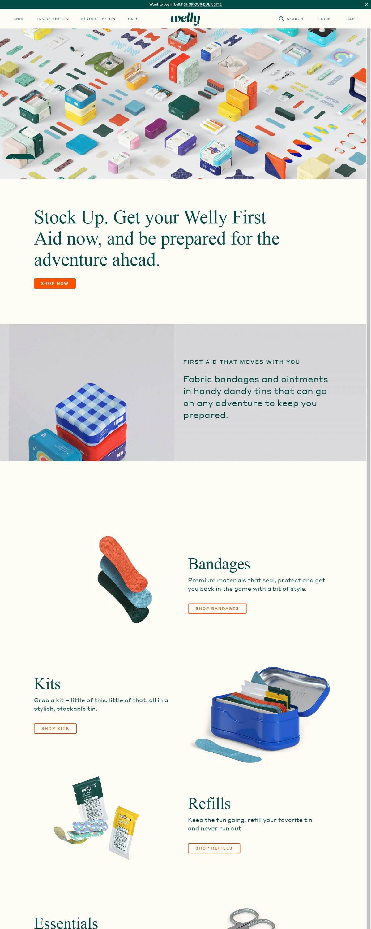 eCommerce website: Welly
