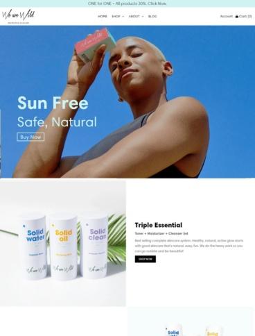 eCommerce website: We are Wild