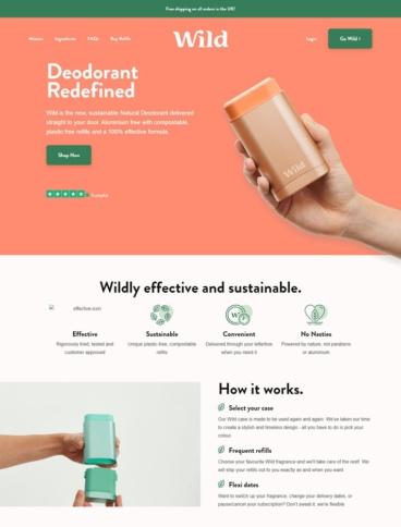 eCommerce website: Wild