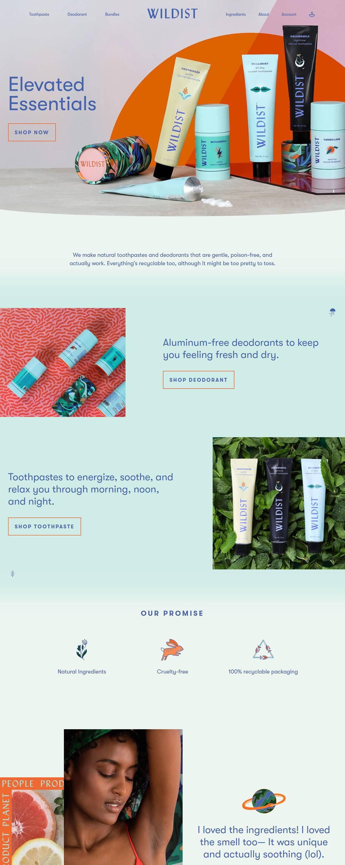 eCommerce website: Wildist