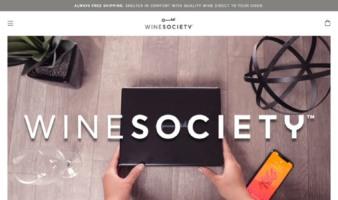 eCommerce website: WineSociety