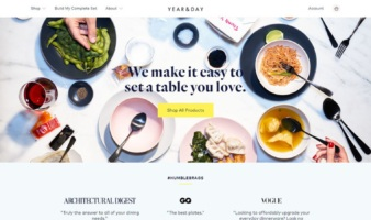 eCommerce website: Year & Day