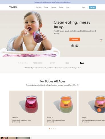 eCommerce website: Yumi