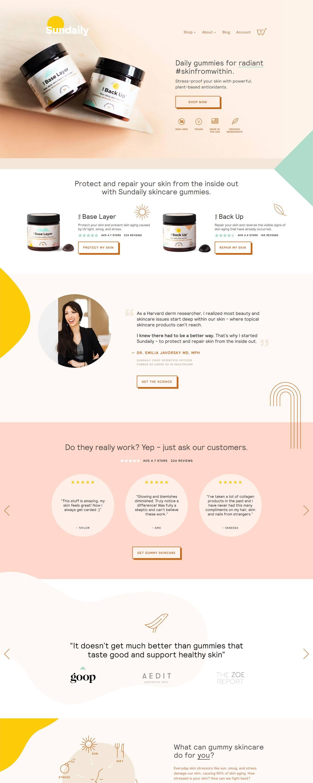 eCommerce website: Sundaily