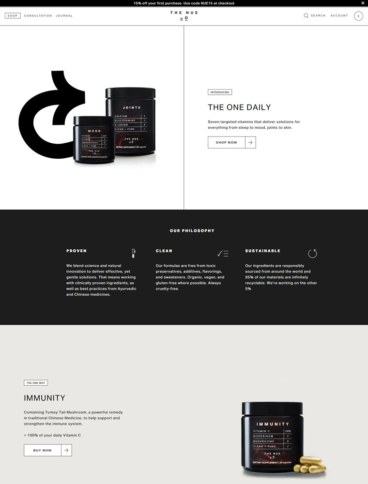 eCommerce website: The Nue Co
