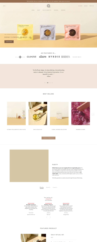 eCommerce website: The Qi