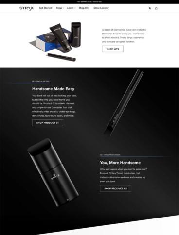 eCommerce website: Stryx