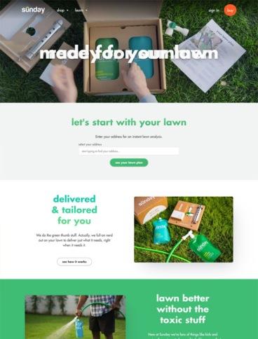 eCommerce website: Sunday