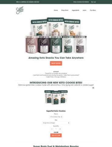 eCommerce website: SuperFat