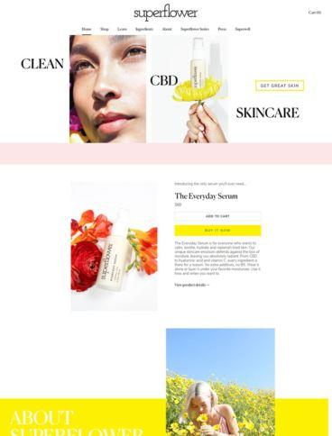 eCommerce website: Superflower