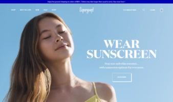 eCommerce website: Supergoop