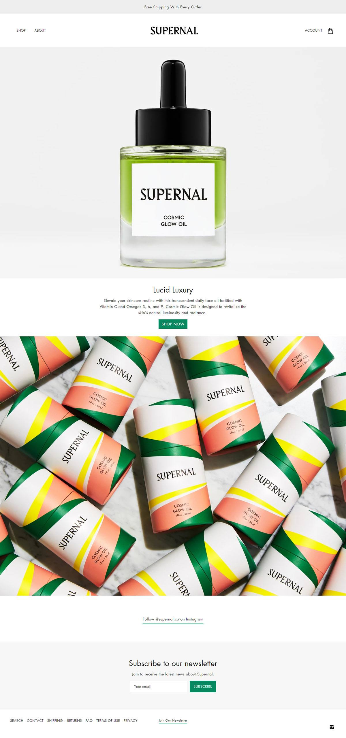 eCommerce website: Supernal