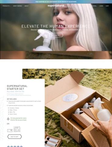eCommerce website: Supernatural