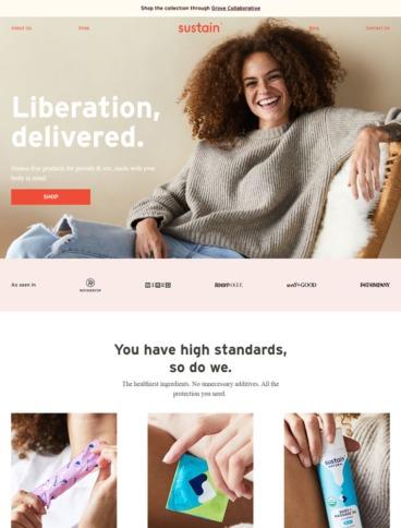 eCommerce website: Sustain