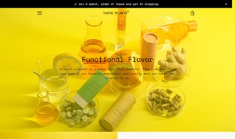 eCommerce website: Taste Plants