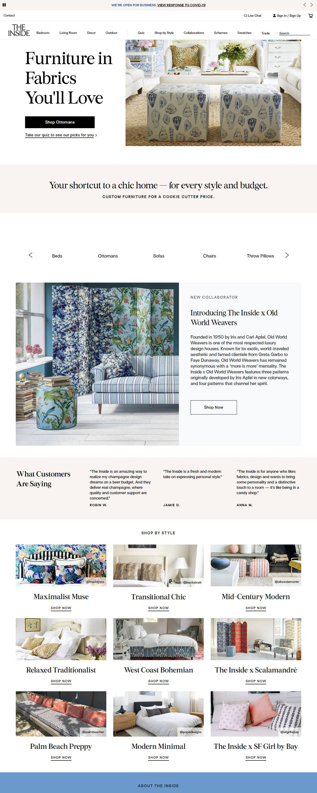 eCommerce website: The Inside