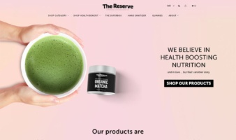 eCommerce website: The Reserve