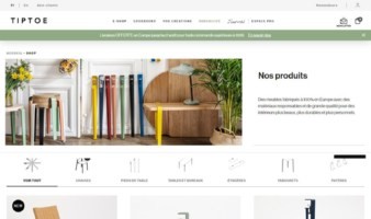 eCommerce website: TIPTOE