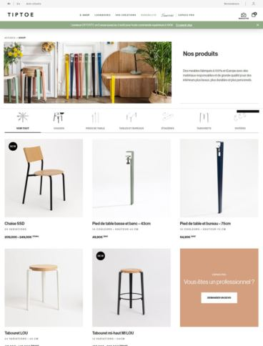 eCommerce website: TIPTOE