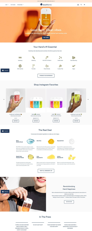 eCommerce website: Touchland
