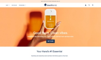 eCommerce website: Touchland