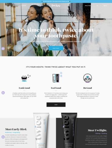 eCommerce website: Twice